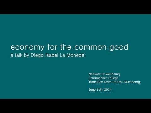 Community Talk: Economy for the Common Good