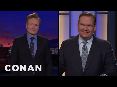 Andy Helps Conan Celebrate His 4,000th Show  - CONAN on TBS