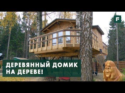 видео: Домик на дереве с детской площадкой: особенности конструктива // forumhouse