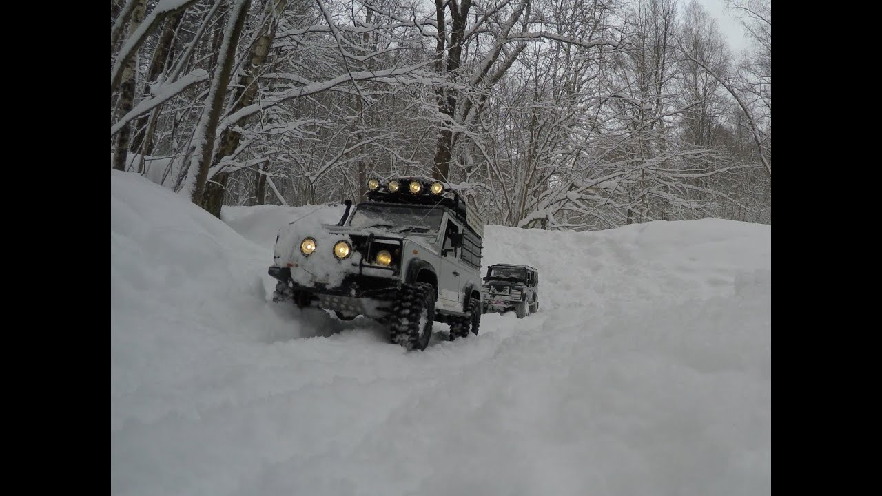 Jeep In Snow >> 4x4 off-road snow storm Land Rover defender 90, defender