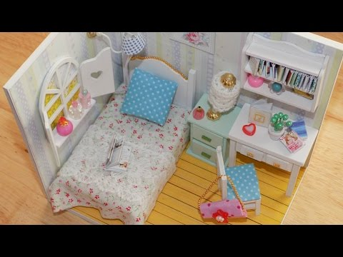 DIY Miniature Dollhouse Bedroom