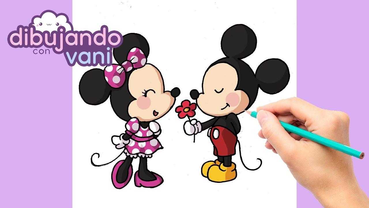 como dibujar a minnie y mickey paso a paso dibujos kawaii para dibujar imagenes faciles disney