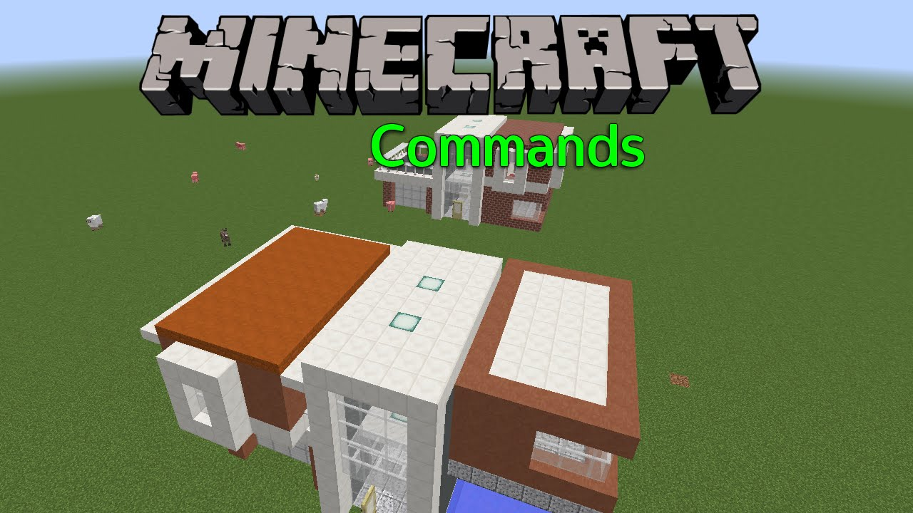 Haus Generator Minecraft Commands Streetmaster YouTube - Minecraft haus bauen mit command block