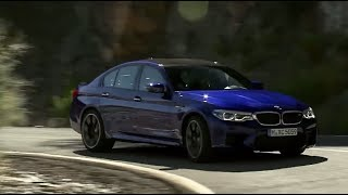 NEW F90 BMW M5 on Country Road. Marina Bay Blue Metallic Beast!