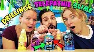 SIND WIR SCHLEIM DRILLINGE? Kaan, Nina, Kathi in der TRIPLETS TELEPATHY CHALLENGE mit Slime Zutaten