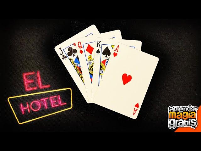 TRUCO de MAGIA con CARTAS, El Hotel   Aprender magia gratis