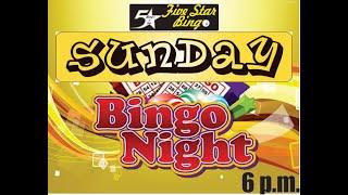 Five Star V-Bingo Live - JUNE 6 Event