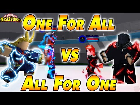 One For All VS All For One  Boku No Roblox Remastered