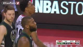 Milwaukee Bucks vs Toronto Raptors - 1st Half Highlights | Game 5 | April 24, 2017 | NBA Playoffs
