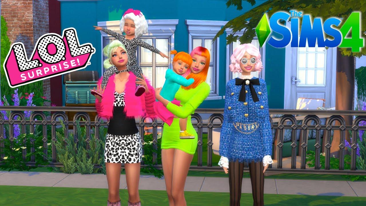 DIY Custom LOL OMG Dolls Family - SIMS 4 Roleplay Titi Plus