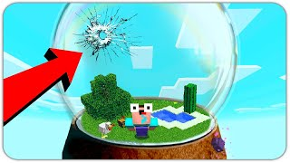 NOOB SURVIVAL UNDER THE GLASS in THE DOME! HOW TO SURVIVE in MINECRAFT!?