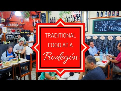 Eating Traditional Argentinian Food at a Bodegón in Buenos Aires, Argentina
