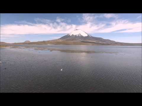 Chungara lake: flying the Altiplano