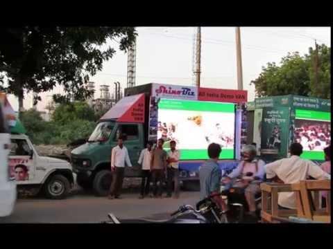 outdoor road show advertising led video van, shinobiz2015