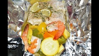 Mahi-Mahi Foil Packet Recipe - How To Cook Mahi Mahi - Fish Recipes In Oven