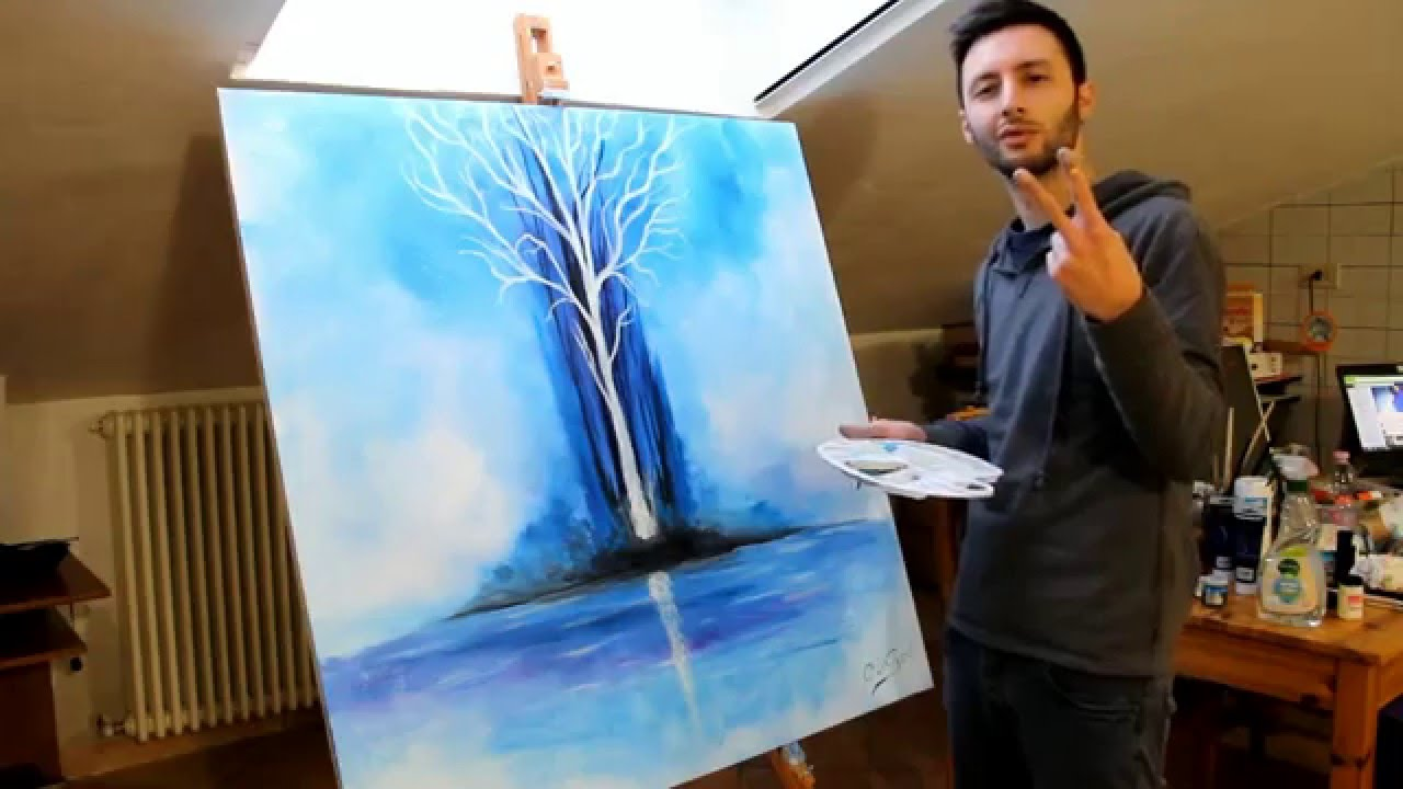 speed paint tree glow in the dark by crisco art