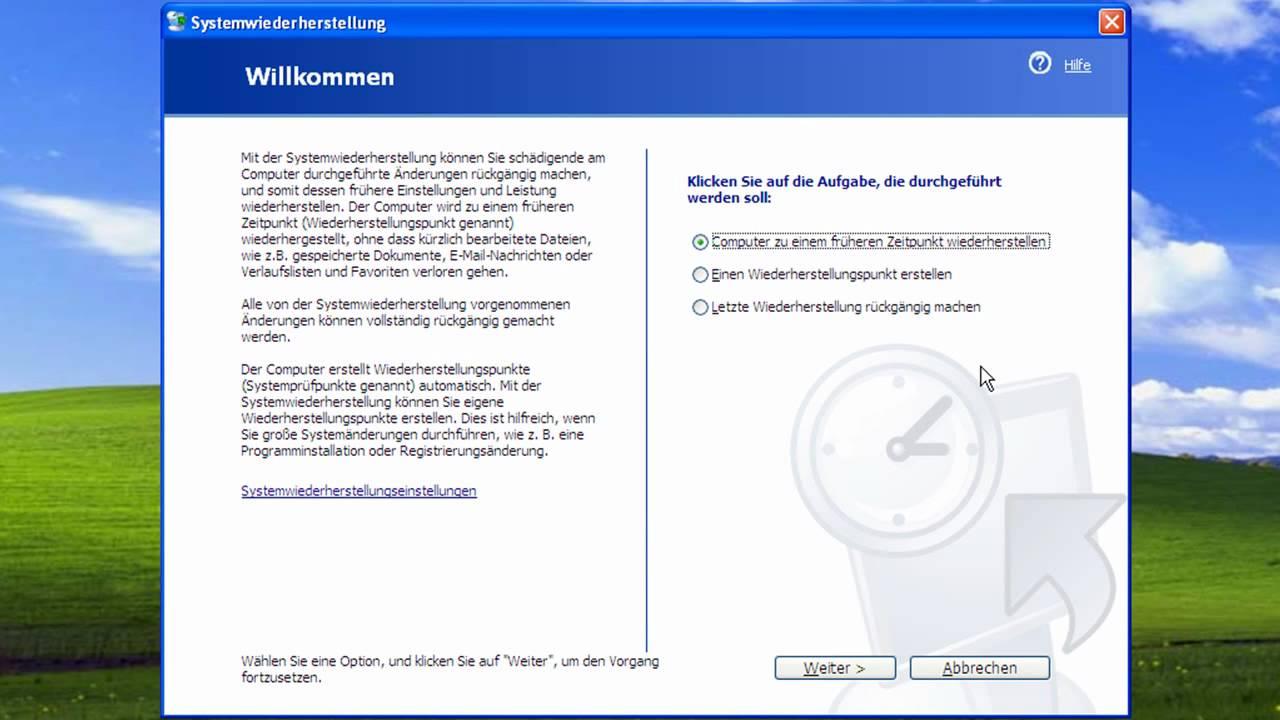 Windows Xp Auf Werkseinstellung Zurücksetzen