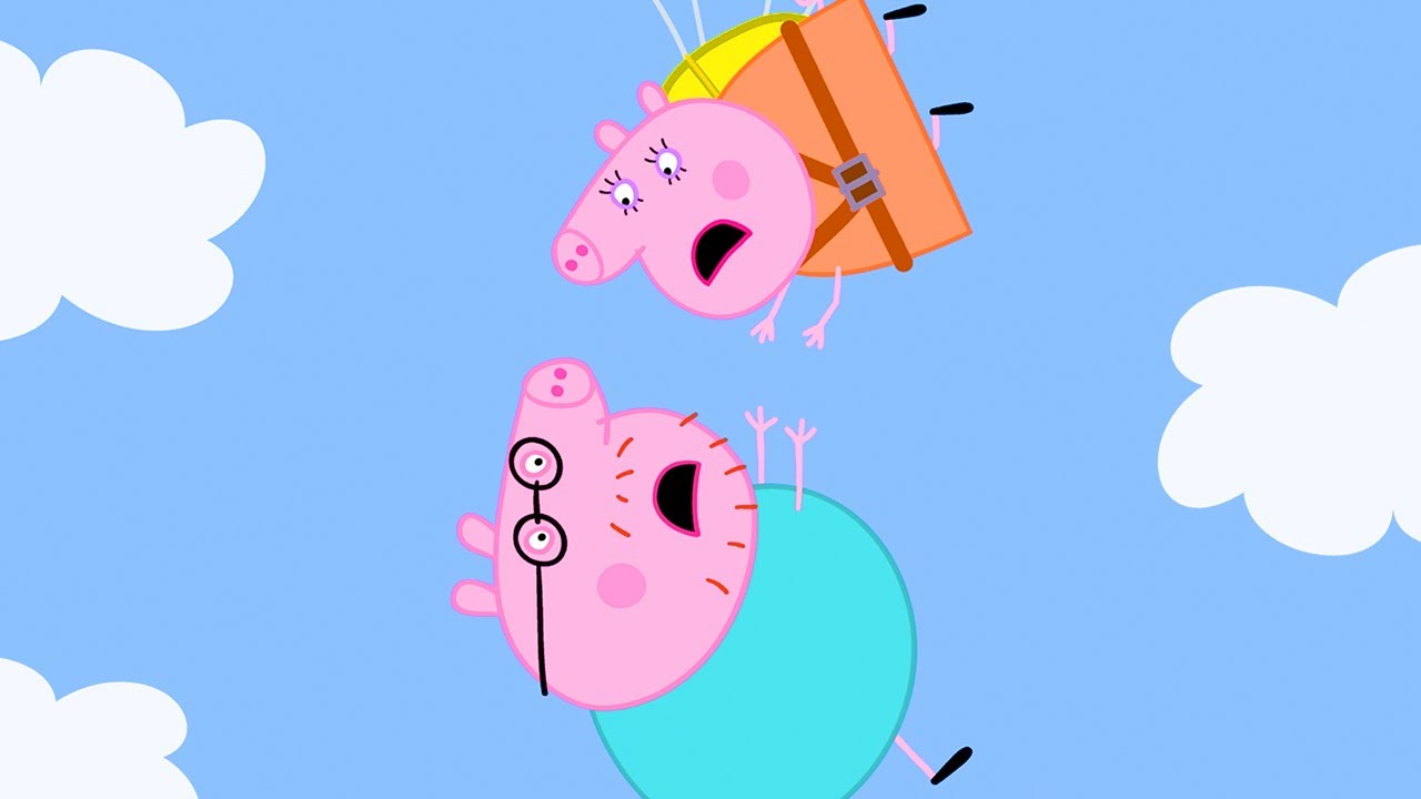 Peppa Pig Official Channel | Mummy Pig is the Bravest Mummy - the Parachute Challenge