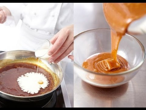 technique de cuisine r aliser une sauce caramel et une garniture de caramel mou youtube. Black Bedroom Furniture Sets. Home Design Ideas