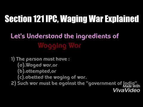 Explanation of Section 121, 122, 124A of IPC - YouTube