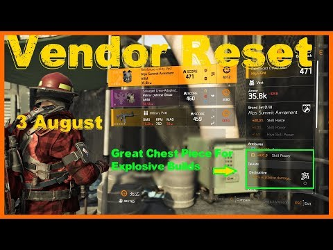 Repeat The Division 2 | Weekly Vendor Reset | High Skill