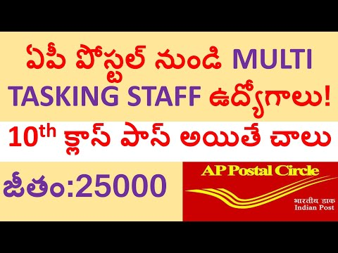 ap postal multitasking staff recruitment notification 2018 | ap postal mts notification 2018