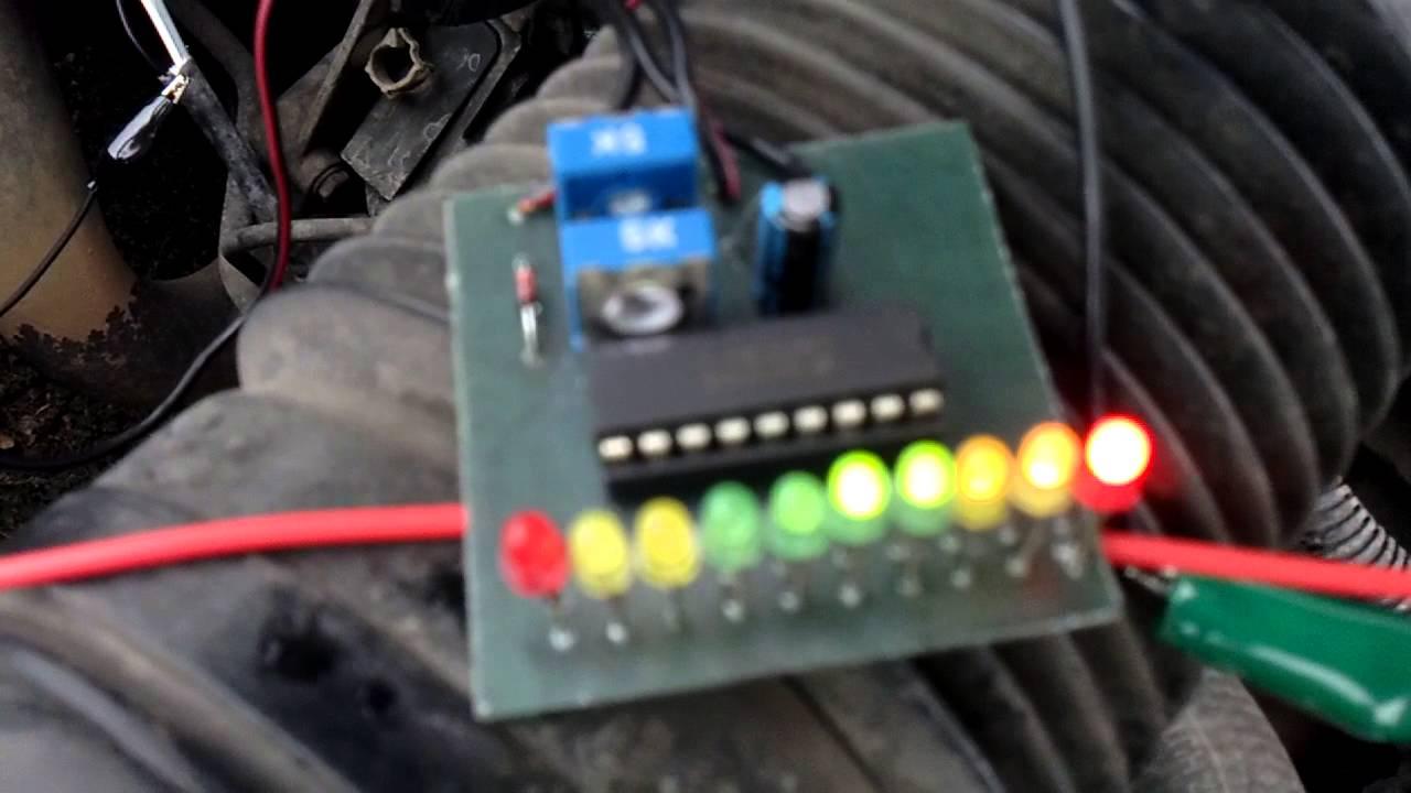 Led Wiring Diagram 3 Tester Lambda Sondy Lm3914 Youtube
