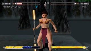 Star Wars Masters of Teras Kasi PS1 (Slave Leia) Part 1 Arcade Mode HD