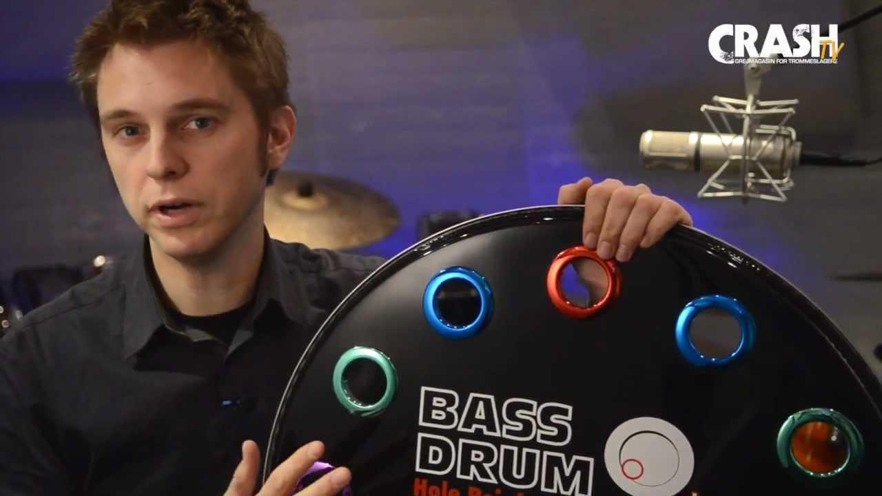 """Chrome Bass Drum O/'s HC4 4/"""" Drum Port"""