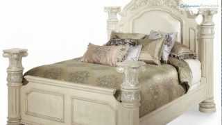 Monte Carlo Ii Silver Pearl Poster Bedroom Collection From Aico Furniture