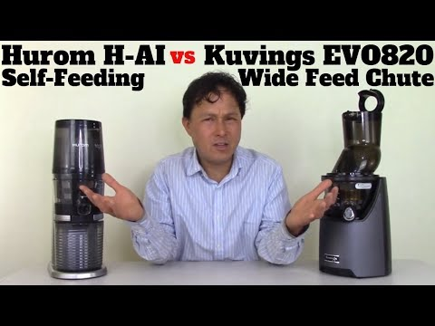 Kuvings EVO820 Wide Mouth vs Hurom H-AI Slow Juicer Comparison Review