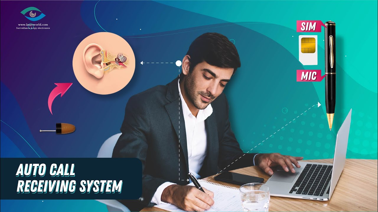 Spy earpiece with GSM Pen. Spy Bluetooth earpiece 👂 for secret communication.