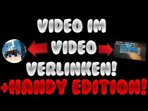 VIDEO IM VIDEO VERLINKEN! + AUCH FÜRS HANDY SICHTBAR!!! ❤ [Tutorial] / [Deutsch/German]