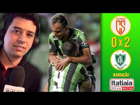 COIMBRA 0x2 AMÉRICA-MG - GOLS com Narração Enio Lima | Rádio ITATIAIA (17/02/20)