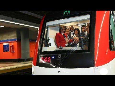 El presidente Danilo Medina recorre extensión segunda línea del Metro de Santo Domingo