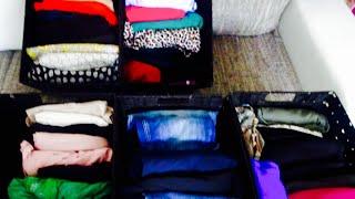 ترتيب خزانة الملابس بطريقة عملية💃🏿💃🏿ترتيب البيت بطريقة سهلة💋❤️