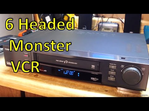 Toshiba 6 Head VHS VCR with V3 Technology and 19u Review and Repair M-782