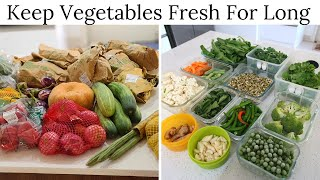 How To Keep Vegeтables Fresh For Long?   Vegetable Storage Tips