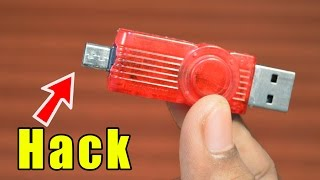 Pen Drive Life Hack - How to Turn Usb Pendrive into OTG Pendrive