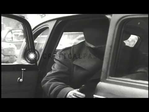 US Army Brigadier General Benjamin Davis arrives in Liege, Belgium for an inspect...HD Stock Footage