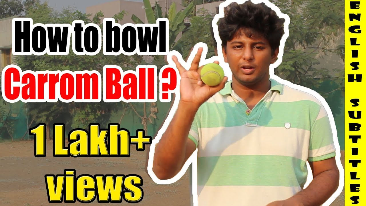 How to bowl Carrom Ball ?(LIVE EXAMPLE INCLUDED) | Cricket Bowling Tips |