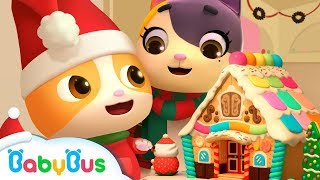 🎅聖誕薑餅屋和彩虹糖 | 最新聖誕節兒歌 | 交通工具童謠 | 怪獸車動畫| 小醫生卡通 | 寶寶巴士 | 奇奇 thumbnail