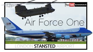 Air Force One Donald Trump Arrival London Stansted Airport UK State Visit Us Air Force VC25