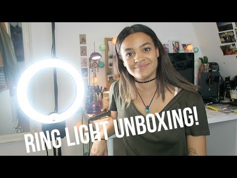 eBay Ring Light Unboxing & Setup | 2017 | Phoebe Soremekun