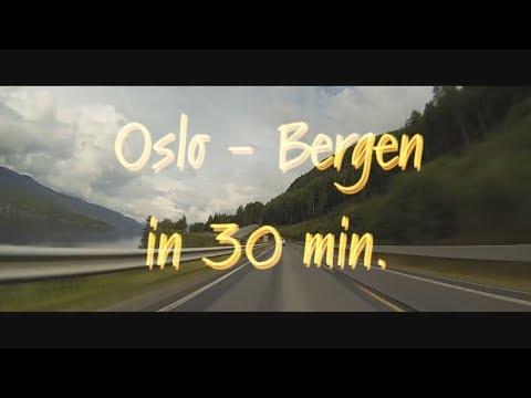 Осло - Берген (Норвегия) на автомобиле за 30 мин. / Oslo - Bergen (Norway) by car in 30 min.