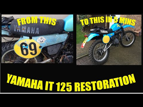 yamaha it. yamaha it 125h restoration, first run 2017 vintage enduro it