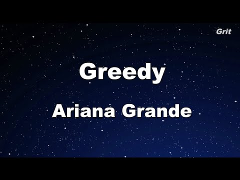 Greedy - Ariana Grande Karaoke 【With Guide Melody】 Instrumental