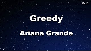 Download Greedy - Ariana Grande Karaoke 【With Guide Melody】 Instrumental MP3 song and Music Video