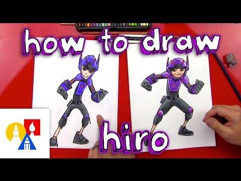 How To Draw Hiro From Big Hero 6 Youtube