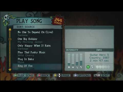 Guitar Hero 5 songlist